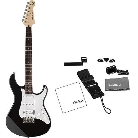 Yamaha Pacifica serie pac012 guitarra eléctrica Negro (afinador, correa, púas de guitarra,