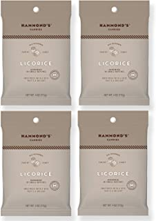 product image for Hammond's Candies - Old Fashioned Licorice Pantry Candies - 4 - 4 Ounce Bags, Natural Black Licorice Drops, Handmade in Small Batches, Using the Finest Ingredients, Handcrafted in the USA
