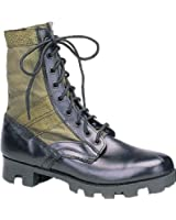 Classic Military Leather Jungle Boots with Panama Sole