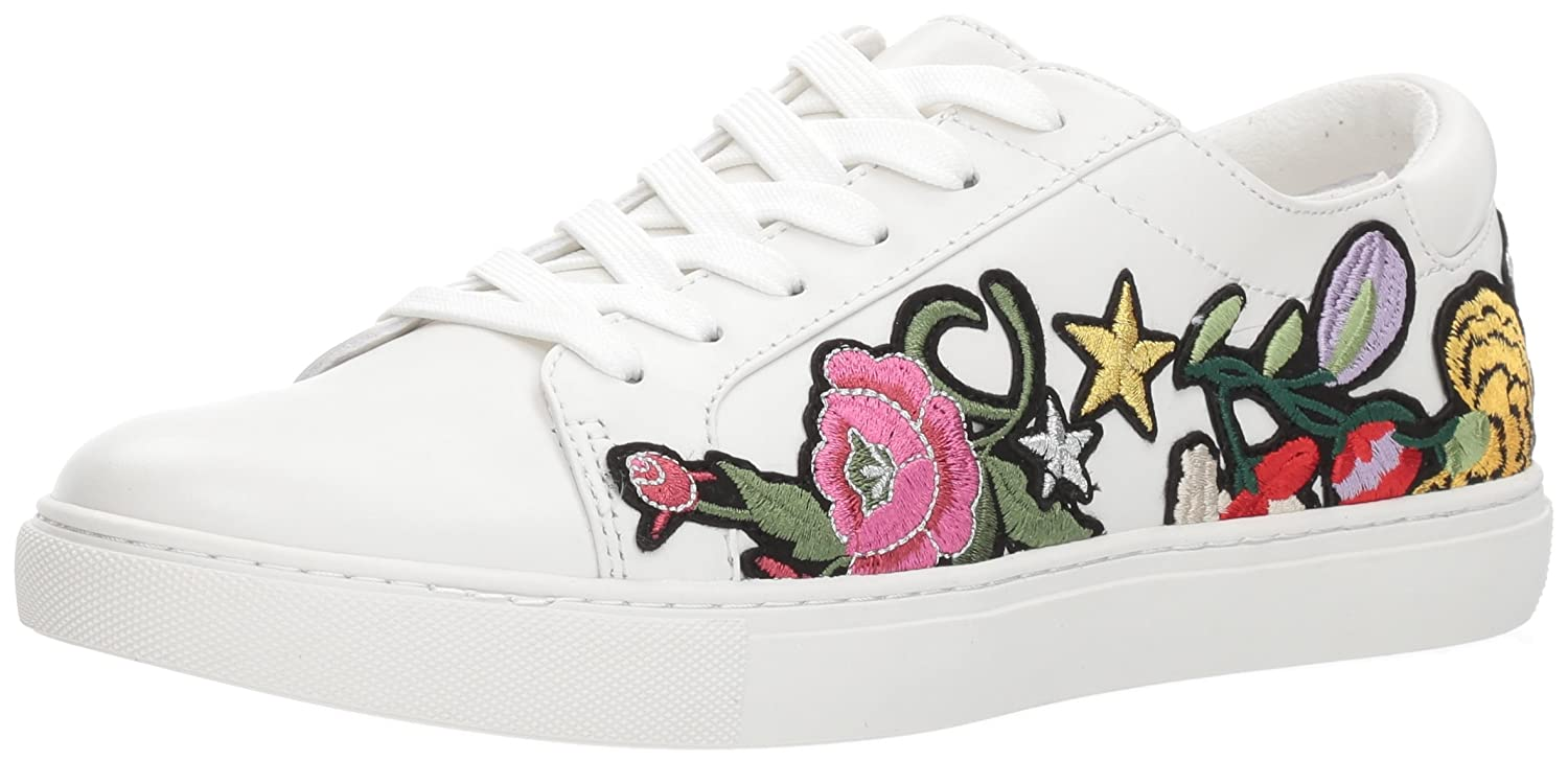 Kenneth Cole New York Women's Kam 10 Floral Embroidered Lace-up Sneaker B073XK99N8 8.5 M US|White