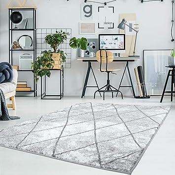 Carpet City Teppich Flachflor Moda, Meliert Mit Geometrischen Muster In  Raute Optik In Grau