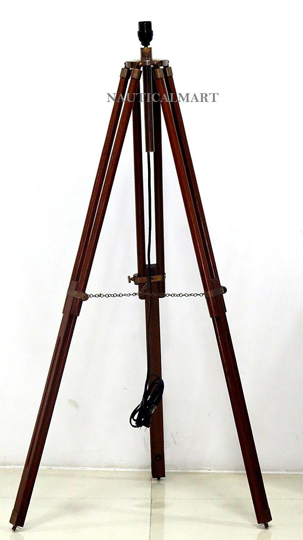 MAHOGANY WOOD BASE FOR LAMP BY NAUTICALMART