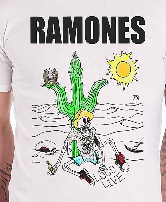 G/én/érique Ramones T Shirt Vintage Wings Band Logo Vintage Nouveau Officiel Homme
