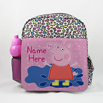 Personalizada Peppa Pig% 26 George PP03 - Animal Impresión Mochila Niños Mochila para niños mochila escolar: Amazon.es: Hogar