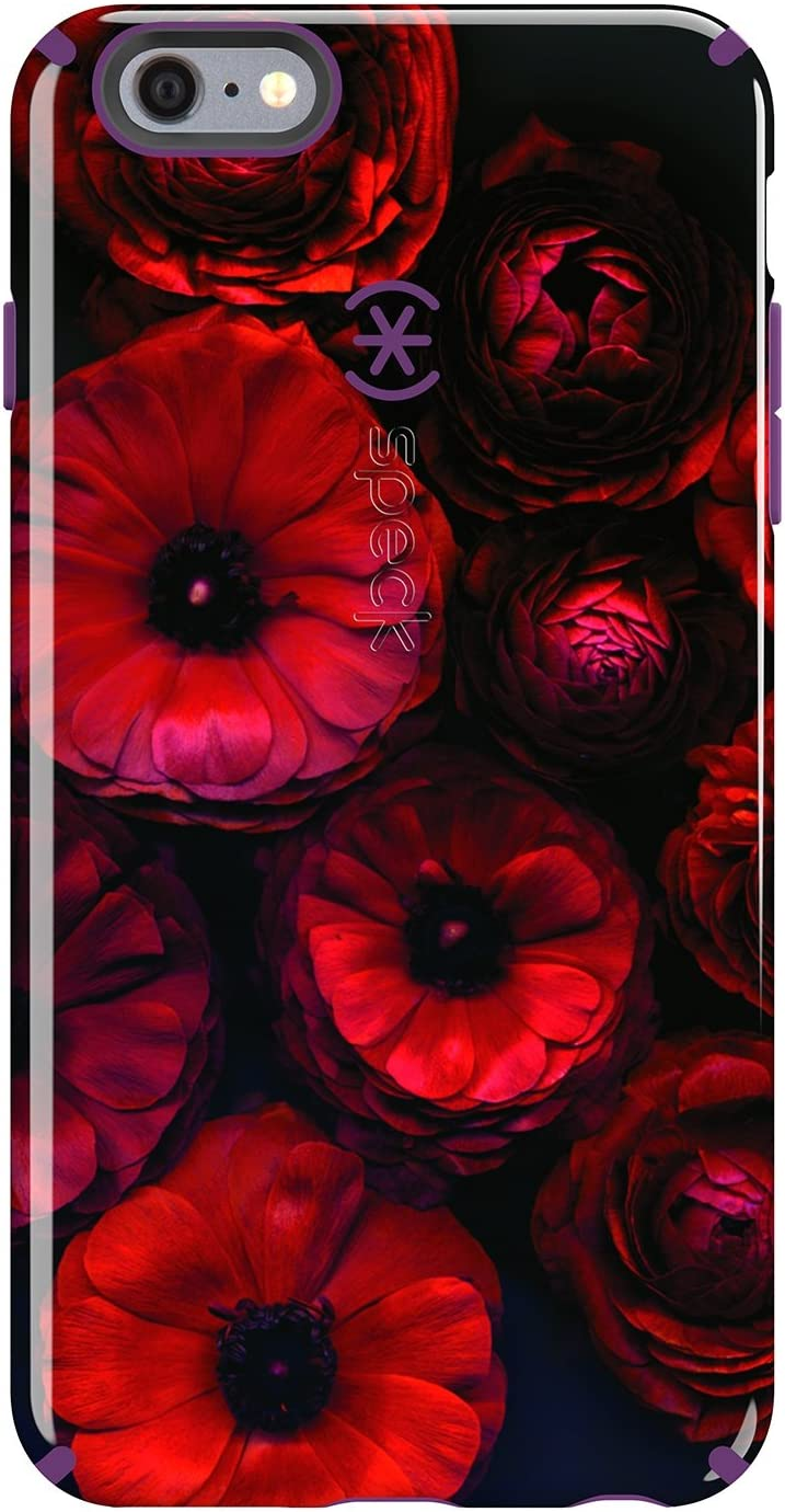 Speck Products Inked Case for iPhone 6 Plus/6S Plus - Retail Packaging-Moody Bloom Pattern/ Acai Purple