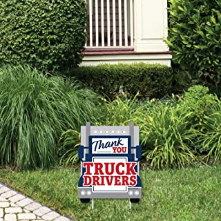 product image for Big Dot of Happiness Thank You Truck Drivers - Outdoor Lawn Sign - Appreciation Yard Sign - 1 Piece
