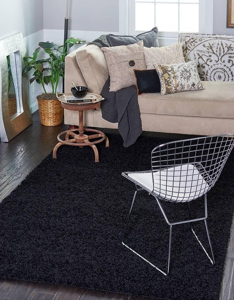 Unique Loom Solo Solid Shag Collection Modern Plush Jet Black Rectangle (5' x 8') by Unique Loom (Image #20)