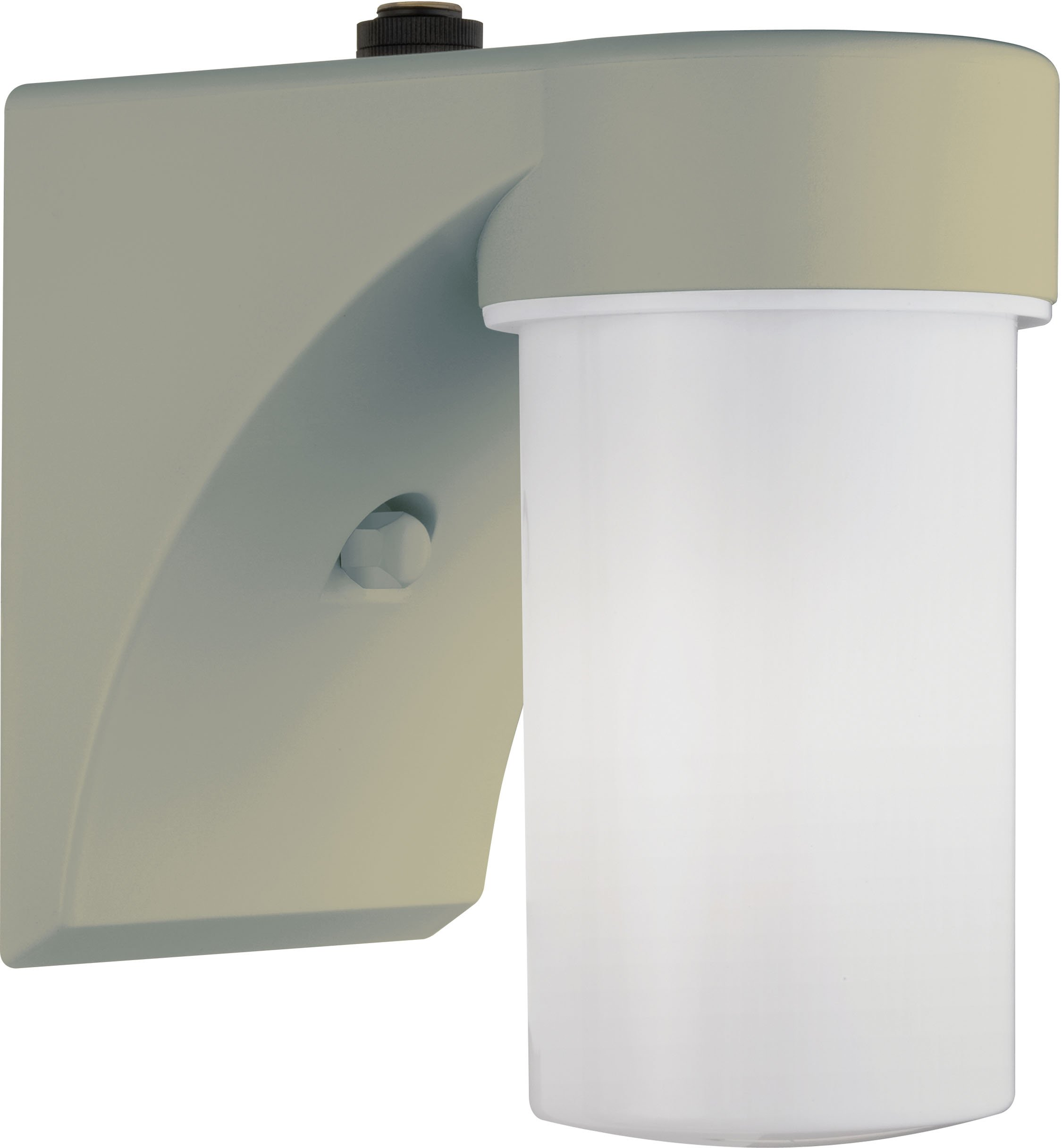 Lithonia Lighting OSC 13F 120 P LP WH M6 Outdoor Cylinder Wall Light with Dusk to Dawn Photocell, Beige