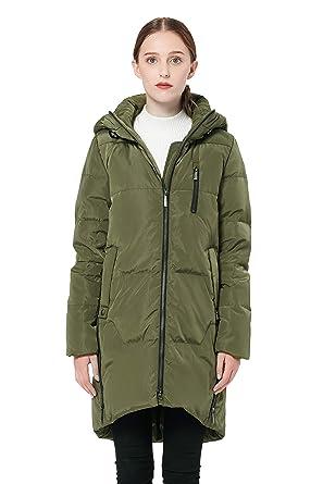 cf4705ee283f Amazon.com  Orolay Women s Stylish Down Coat Winter Jacket with Hood ...