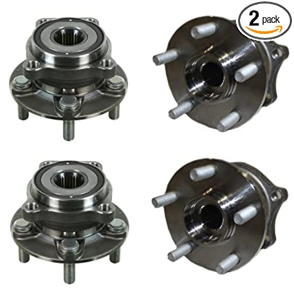 Detroit Axle - Front and Rear Wheel Bearing and Hub Assembly Set for  2009-2013 Subaru Forester - [2010-2014 Subaru Legacy] - 2010-2014 Subaru  Outback