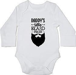 Boys Girls Hippowarehouse Daddys Little Beard Puller Baby Vest Bodysuit Long Sleeve
