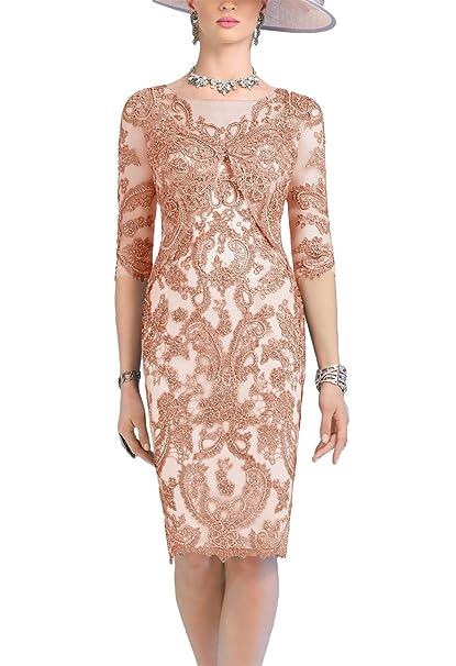 Amazon.com: Newdeve - Vestido de encaje floral para madres ...