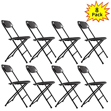 Amazon.com: lazymoon negro silla plegable de plástico PATIO ...