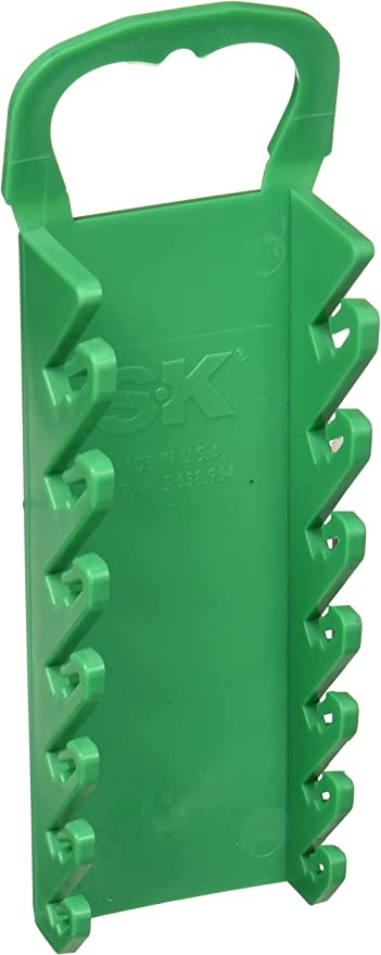 9-Piece Green SK Hand Tool 1071 Wrench Rack