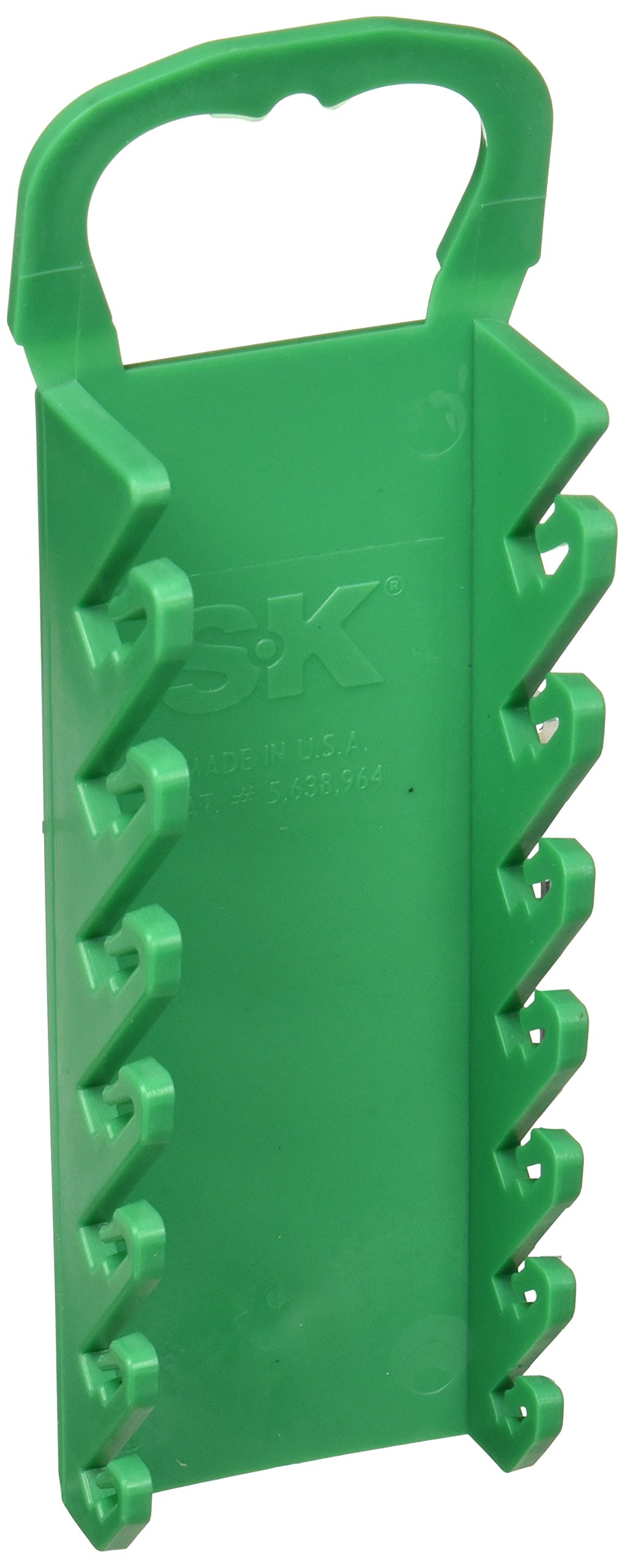 SK Hand Tool 1086G Wrench Rack, Short, Green, 7-Piece