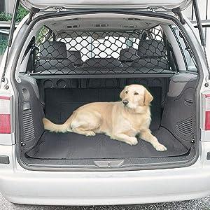 Brownrolly - Organizador de red para asiento trasero de coche, red de seguridad para vehículos