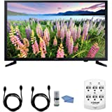 Samsung UN32J5003 - 32-Inch Full HD 1080p LED HDTV + Hookup Kit - Includes HDTV, 6 Outlet Wall Tap Surge Protector with Dual 2.1A USB Ports, HDMI Cable 6' and Performance TV/LCD Screen Cleaning Kit