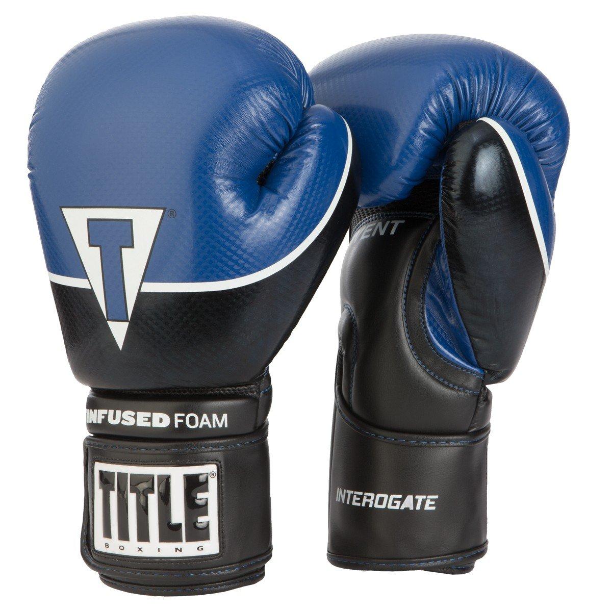 タイトル注入Foam Interrogateトレーニング手袋 B06Y4C68ZS 16 oz|ブラック/ブルー ブラック/ブルー 16 oz