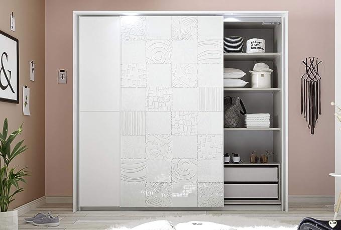 LIGNEMEUBLE LOLY - Conjunto de Dormitorio de diseño Blanco: Amazon.es: Hogar