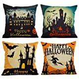 Amazon Price History for:HOSL PW01 4-Pack Happy Halloween Square Decorative Throw Pillow Case Cushion Cover Bat Pumpkin