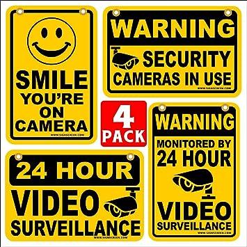 Amazon.com: 24 horas de vigilancia de vídeo sonrisa estás en ...