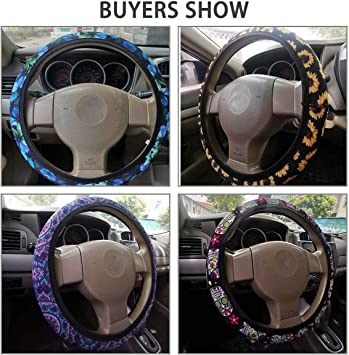 Freewander Vivid Sunflower Steering Wheel Cover for Women Fashionable Adorable Steering Wheel Protector Washbale//Durable,Universal 15 inch