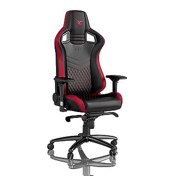 Design De 120 Chaise Bureau Cuir Synthétique Kg Lombaire Noblechairs Inclinable Siège Pu Soutien Coussin Gaming Epic Du wv0Nnm8O