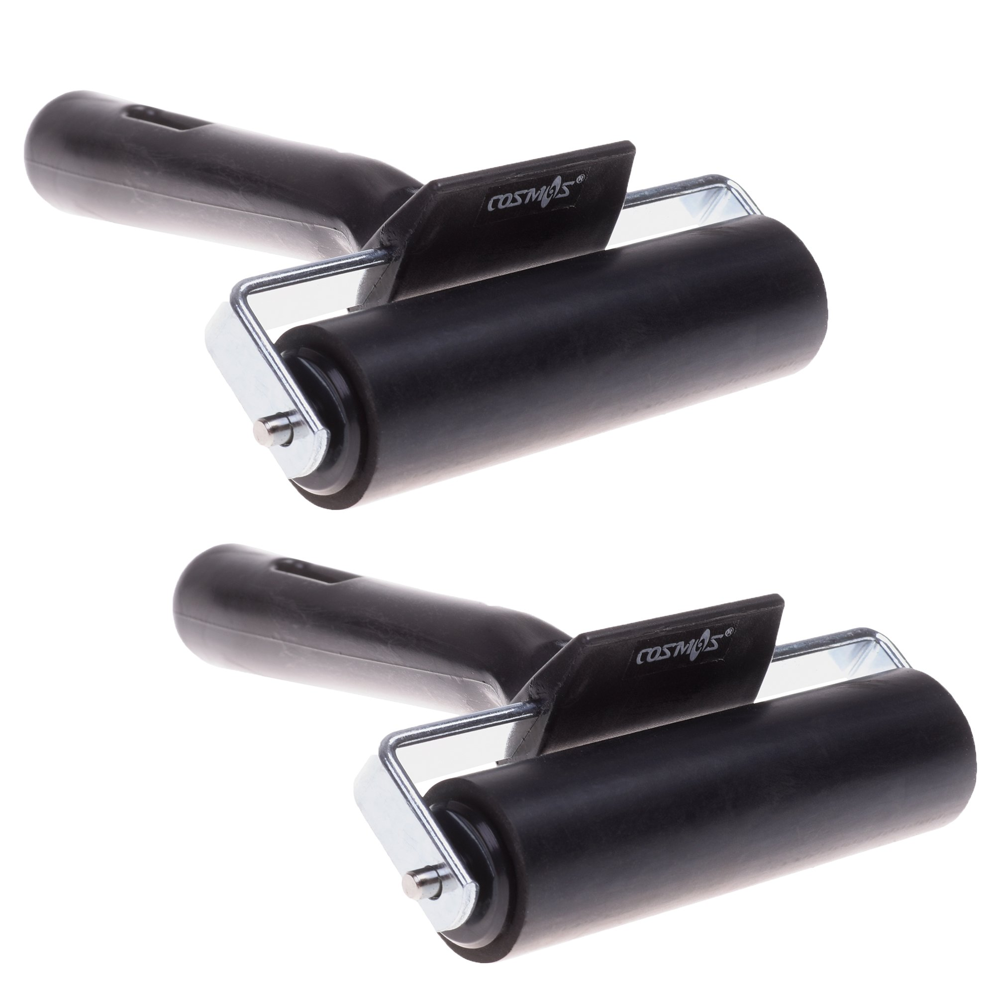 COSMOS 4 Inch Rubber Brayer Roller for Printmaking, Great for Gluing Application Also, Pack of 2 by CM