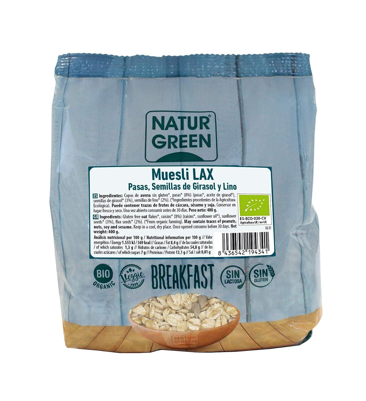 NaturGreen Muesli Lax (Copos de Avena, Semillas de girasol ...