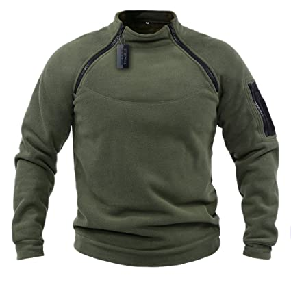 455ed0e547 ZAPT Cold Weather Gear Tactical Soft Shell 2-Zip Warm Fleece Jacket  Military Special OPS Polartec Thermal Pro Heavyweight Thick Tech Fleece