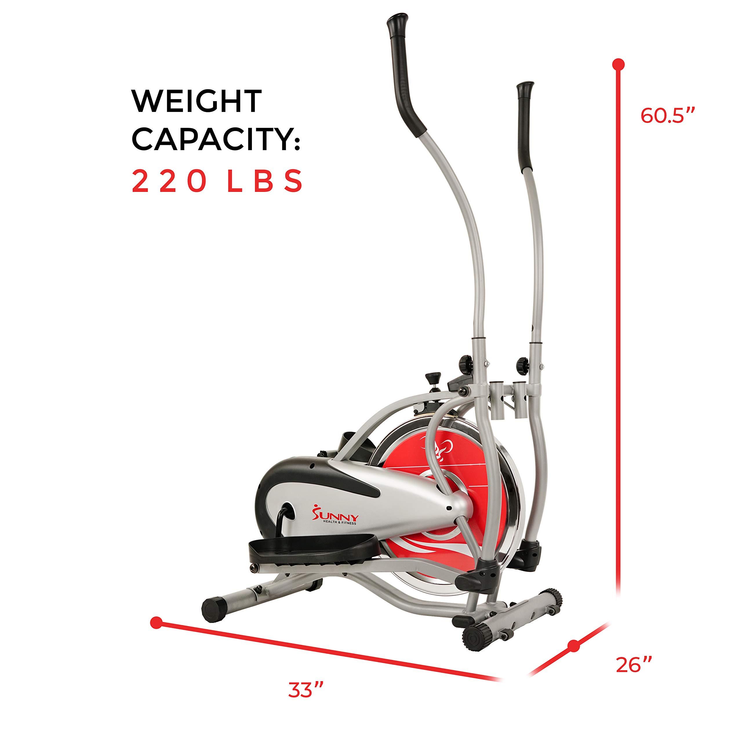 Sunny Health & Fitness SF-E1405 Flywheel Elliptical Trainer, Gray by Sunny Health & Fitness (Image #13)