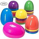 Prextex Jumbo 7 Inch Assorted Colors Easter Eggs -12pk.