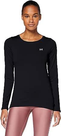 Under Armour UA HG Armour Long Sleeve, Ligera Camiseta Deportiva, Camiseta de Manga Larga Mujer