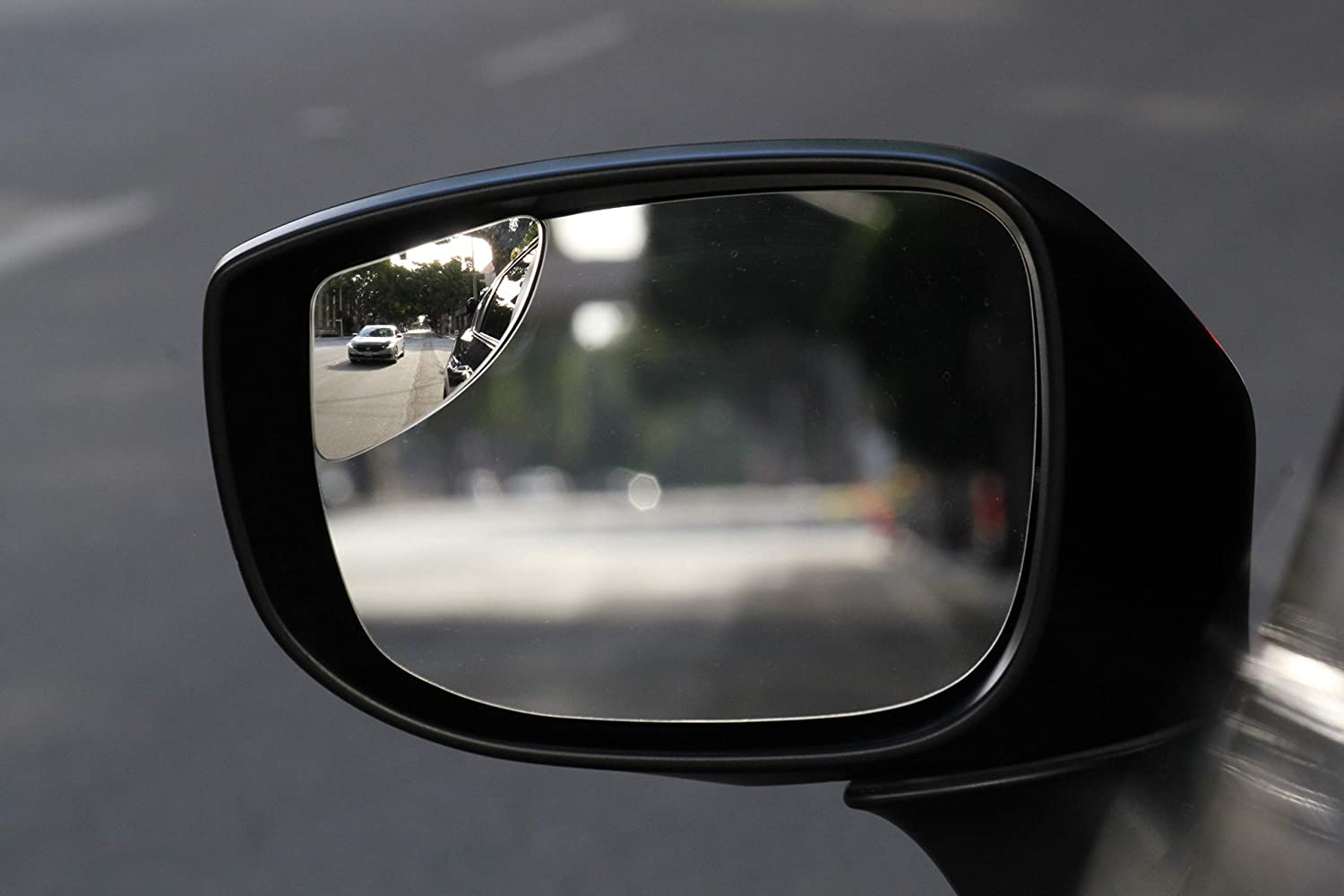 Frameless HD Glass Convex Easy Installation Seamlessly Contours to Your Car Side Mirror Safer Lane Changes 80x45mm SuperFan Blindspot Mirror by Safe View Company 2Pack