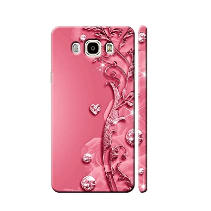 newest 65e49 7a855 Clapcart Designer Printed Back Case for Samsung Galaxy J7-6 2 (Pink)