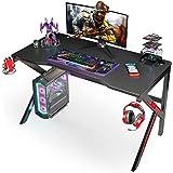 """Gaming Desk, SIMBR 48"""" K-Frame Design Computer Desk, Large Workstation Gaming Table for Gaming Laptop, Office PC Gamer Desk w"""