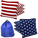 Free Donkey Sports Regulation Cornhole Bags (Set of 8) Stars and Stripes