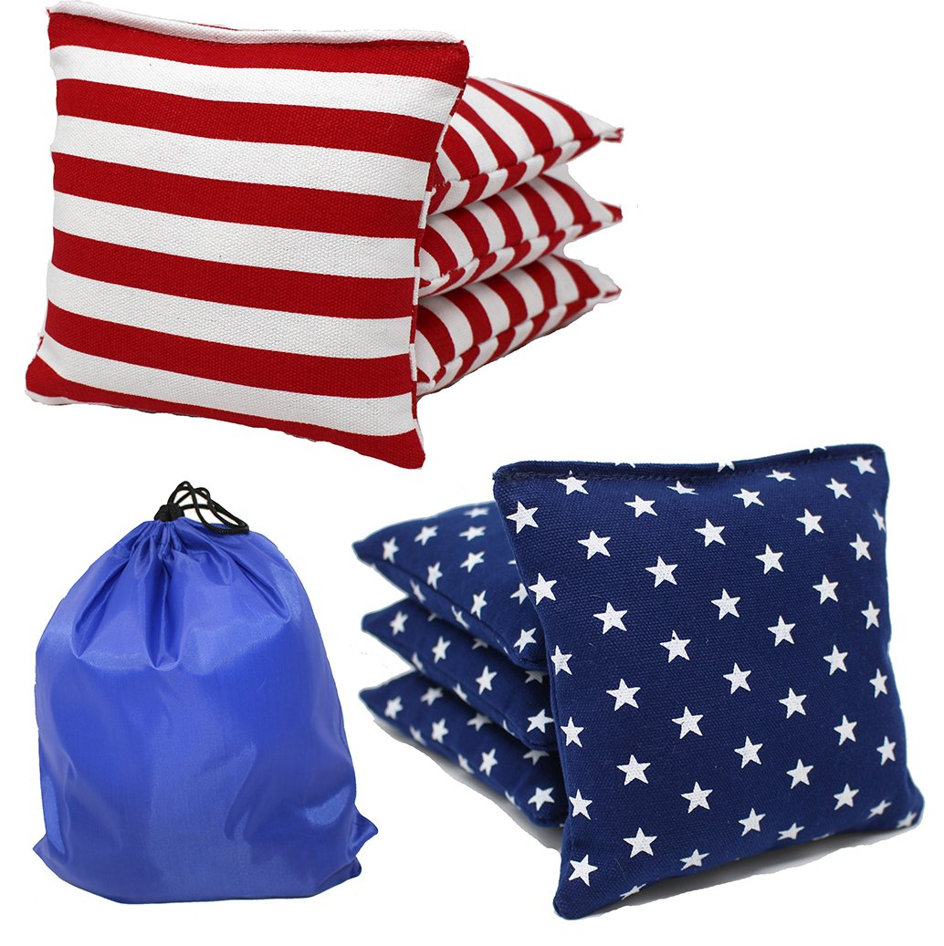 Free Donkey Sports Regulation Cornhole Bags (Set of 8) Stars and Stripes Expedited Shipping by Free Donkey Sports
