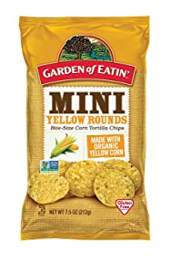 Garden of Eatin' Mini Yellow Rounds Corn Tortilla Chips, 7.5 oz. (Pack of 12) (Packaging May Vary)