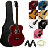 Tiger Full Size Acoustic Guitar for Beginners - Red