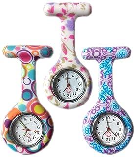 Boolavard® TM 3pcs Flores Reloj Silicona Supervisión de la Enfermera Doctor Paramédico Túnica Broche Fob