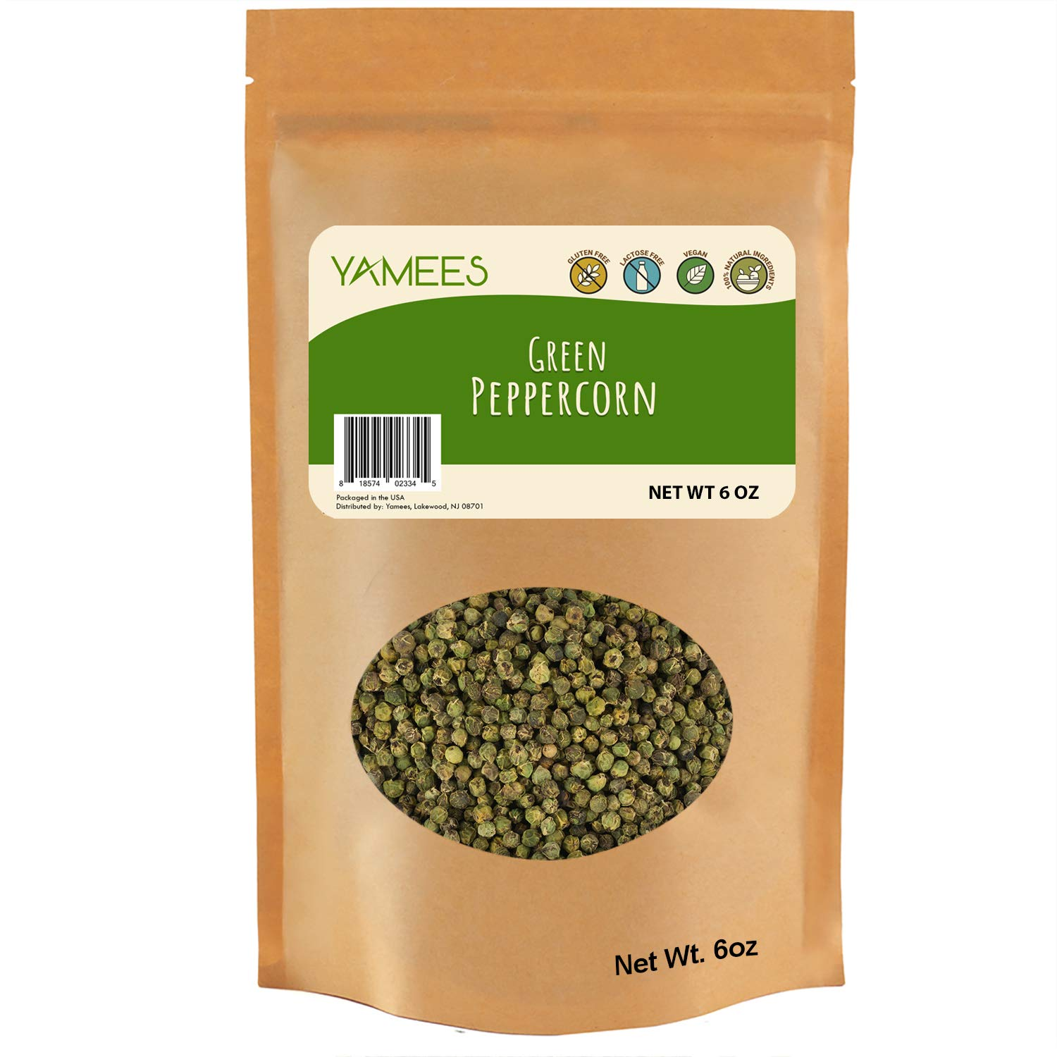 Yamees Peppercorns - Sancho Peppercorns - Green Peppercorns - Japanese Peppercorn - Bulk Spices - 6 Ounce Bag by YAMEES