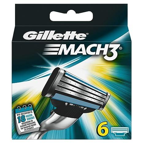 Gillette Mach3 6x - hojillas de afeitar (Men, Gillette, ProGlide Gillette BODY MACH3