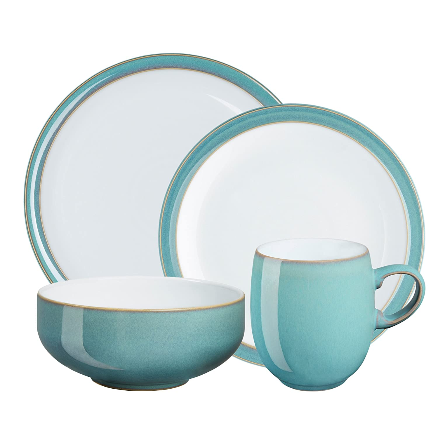 sc 1 st  Amazon.com & Amazon.com: Denby Azure 16-Piece Dinnerware Set: Kitchen u0026 Dining