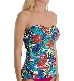 df4d03eb5f4 Lauren by Ralph Lauren Womens Rainforest Tropical Twist Tubini Top w Molded  Cup