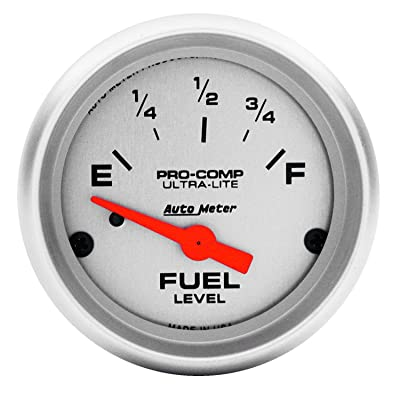 Auto Meter 4316 Ultra-Lite Electric Fuel Level Gauge: Automotive