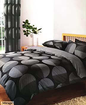 Black Grey Printed King Size Duvet Cover Bed Set Amazoncouk