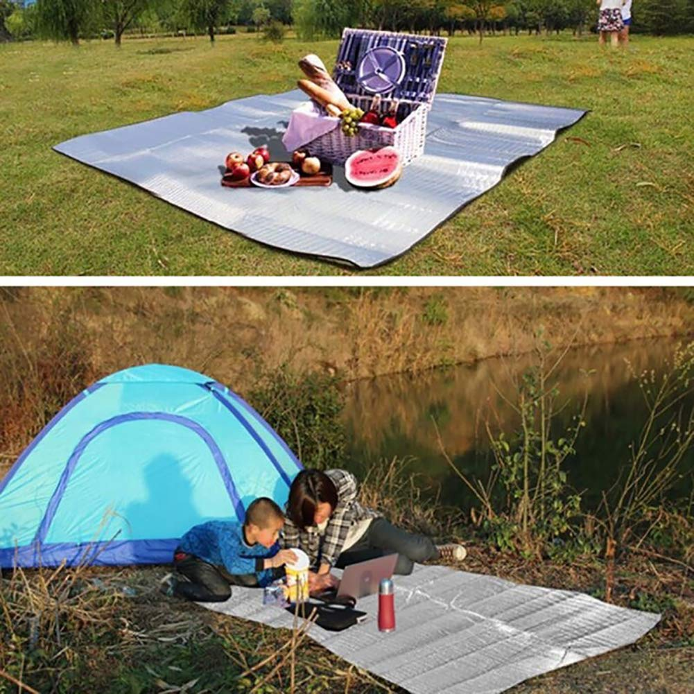 Brussels08 Portable Sand Proof Water Resistant Beach Mat Durable Outdoor Blanket Foldable Picnics Travel Sports Camping Mat Moisture-proof Crawling Mat Tent Pad All Purpose Mat 100 x 200