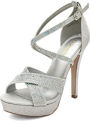 DREAM PAIRS Women's High Heel Platform Dress Pump Sandals