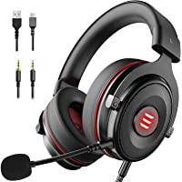 EKSA E900 Gaming Headset Xbox One Headset with 7.1 Surround Sound, PS4 Headset Noise Cancelling Over Ear Headphones with…